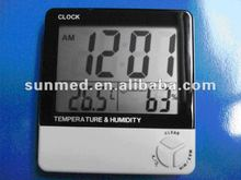 Table clock with thermometer and humidity
