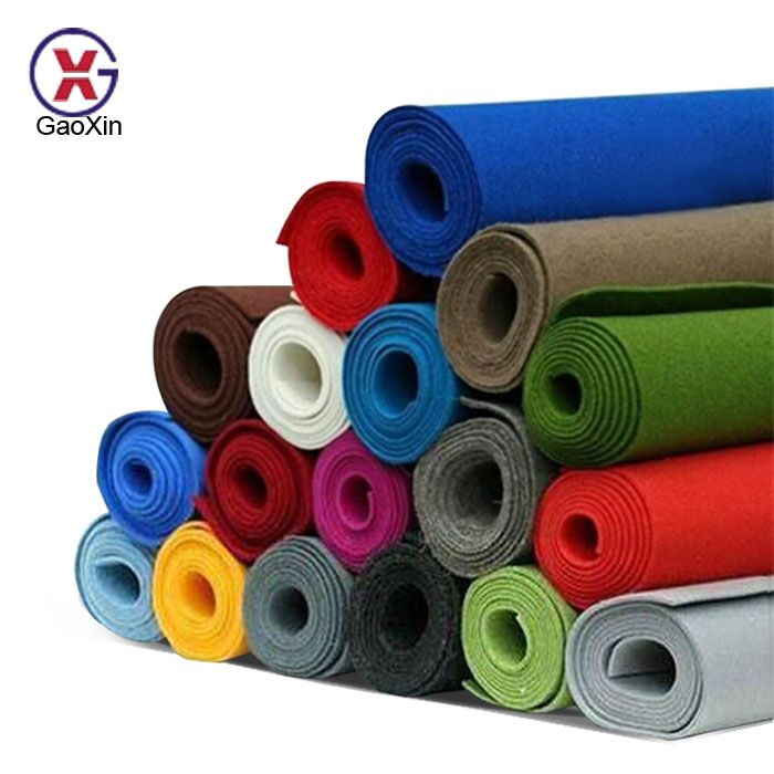 Non Woven Product Fabric Roll 100% Polyester Non-woven Fabric Cloth 5mm Thick Felt Color Felt Fabric