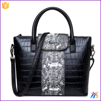 XH19655 Classic High Quality Genuine Cowhide Leather Black Tote Bulk Wholesale Designer Smile Face Handbag