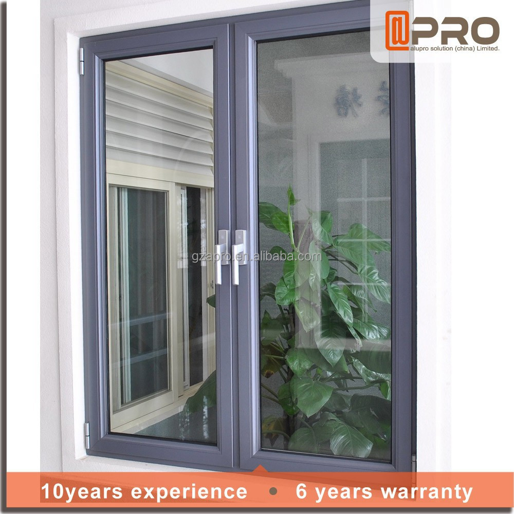 Aluminum Interior Casement Window French Aluminum Window