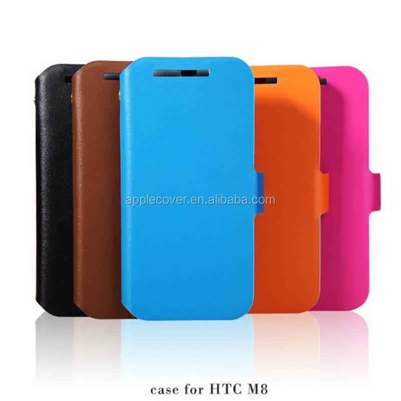 Genuine Leather Flip case for HTC One M7/M8 , for HTC One M7 case