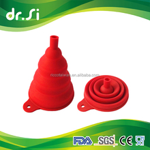 High Quality Collapsible Foldable Food Grade Silicone Funnel