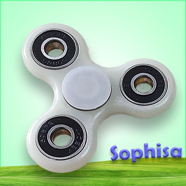 2017 anti stress cheap plastic ceramic finger fidget spinner glow spinning top toy