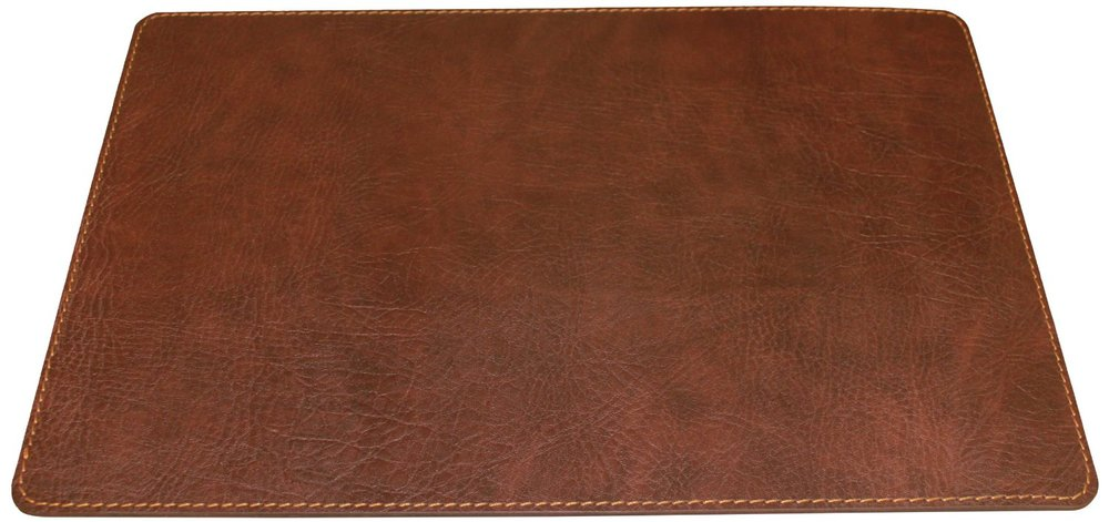 Faux PU leather office table mat leather desk protector