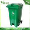 100/120/240L middle pedal bin,square waste bin container, foot pedal plastic garbage bin with wheels