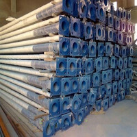 Q345 steel lamp pole price of steel pole manufacturer 6m,7m,8m,9m,10m,11m,12m,13m height