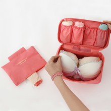 Produce Popular Solid Color Waterproof Underwear Bag Travel Bra Organizer Bag