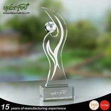 Wholesale high quality cheap glass trophy awards