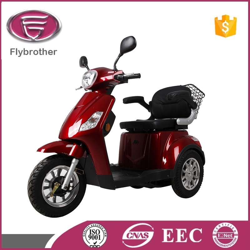 three wheel handicapped bike with behind basket for adult