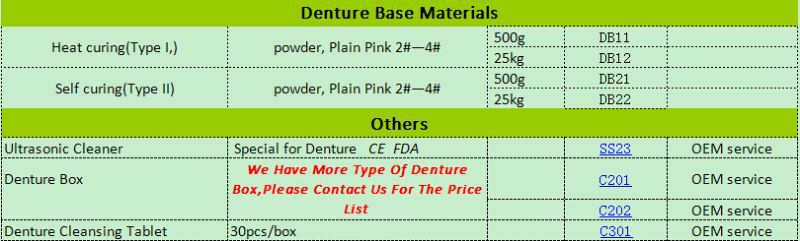 Dental products supply factory low price OEM service dental acrylic teeth 2 layer