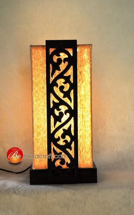 Table Lamp Wood carving Thai style.