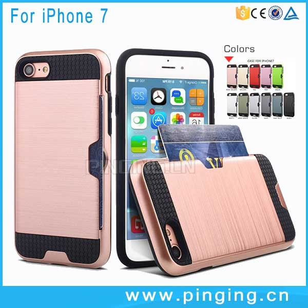 Hot sale luxury armor carbon fiber back phone case for iphone 6 plus cover