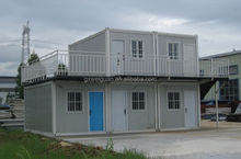New design container house/prefabricated luxury villa/flat roof prefab house