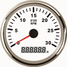 Motorcycle Tachometer RPM 85mm Tachometer Gauge <strong>Meter</strong> 0-3000RPM For Car Boat Truck