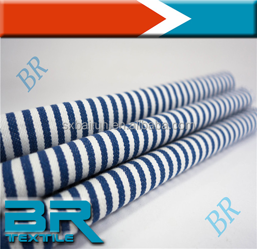 100 Cotton blue and white Stripe fabric wholesale in roll