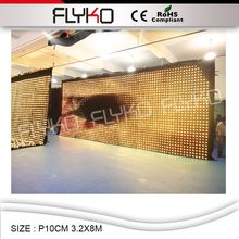 NEW Full Color Flexible <strong>LED</strong> <strong>Display</strong> Screen P10CM Indoor festival party <strong>LED</strong> Video Curtain <strong>Display</strong>