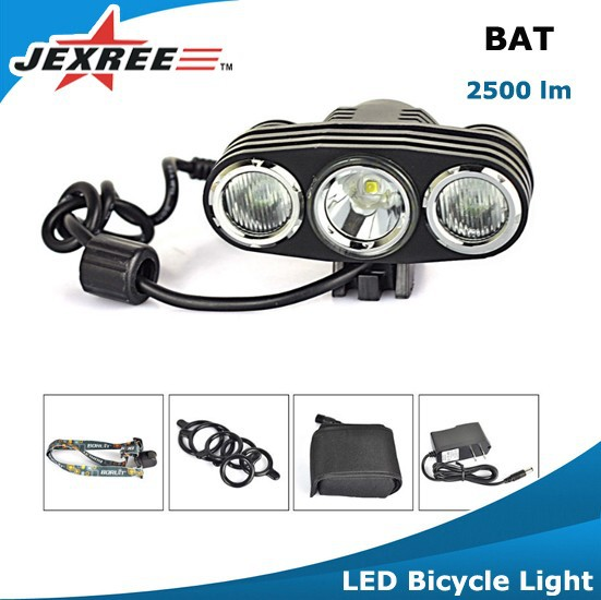 Jexree BAT Cycling Bike Silicone Front Light LED Rear Safety Warning Lamp