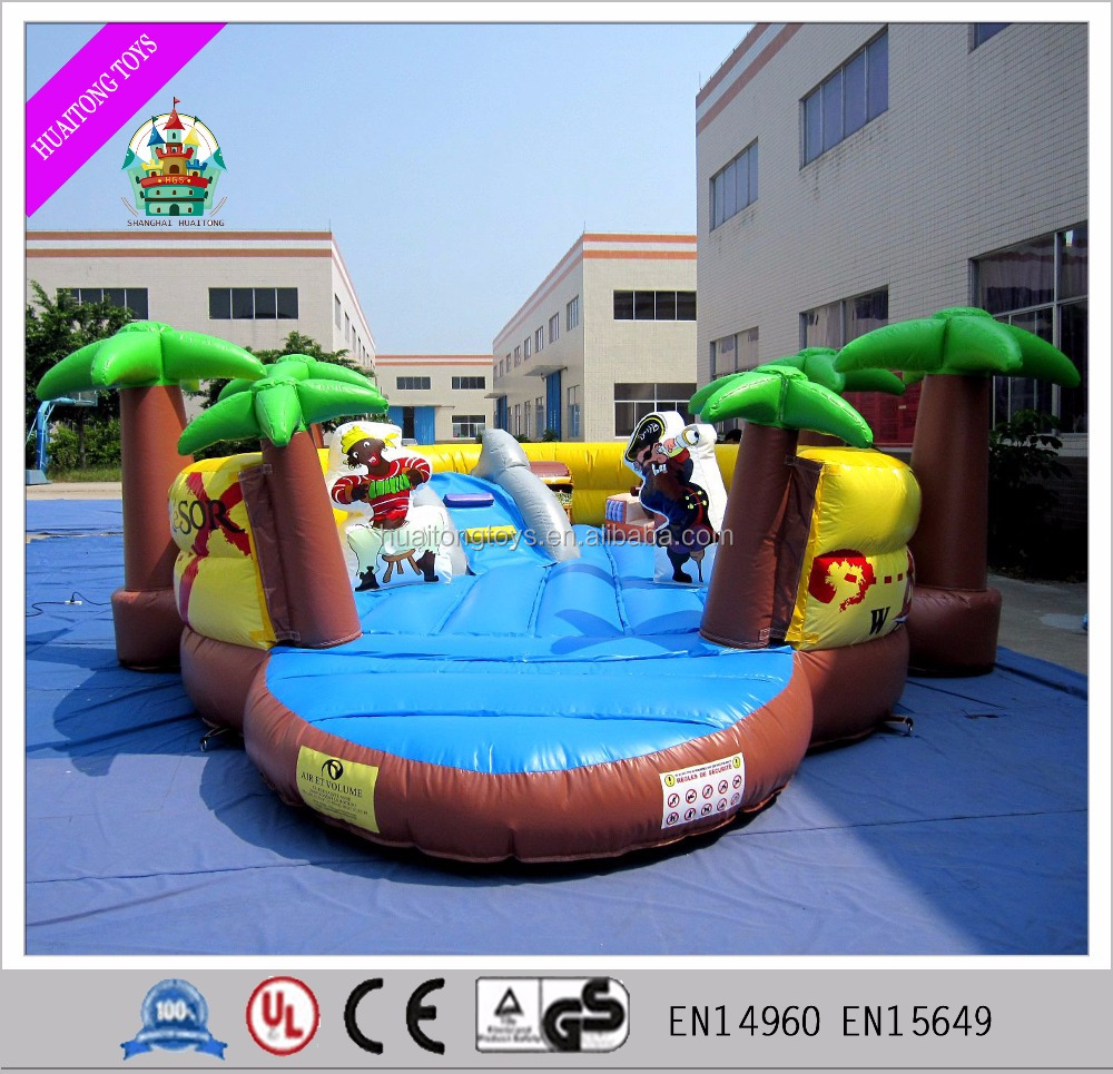2016 Attractive inflatable pirate bouncer yellow jumper house for kids