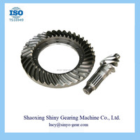 Transit Cars Steel Main Reduction Spiral Bevel Gear Supplier