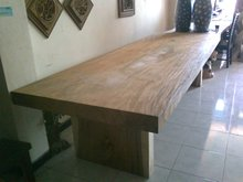 dinning table trembesi/suar/meh solid wood