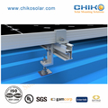 Solar mounting with hanger bolt for metal roof solar power system