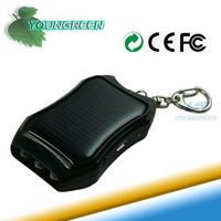 Emergency Solar Powered Charger with Keychain for Mobile Phone
