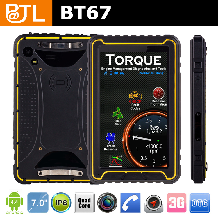 BATL BT67 3g ip67 mtk6582 android 4.4.2 waterproof duarable Tablet PC
