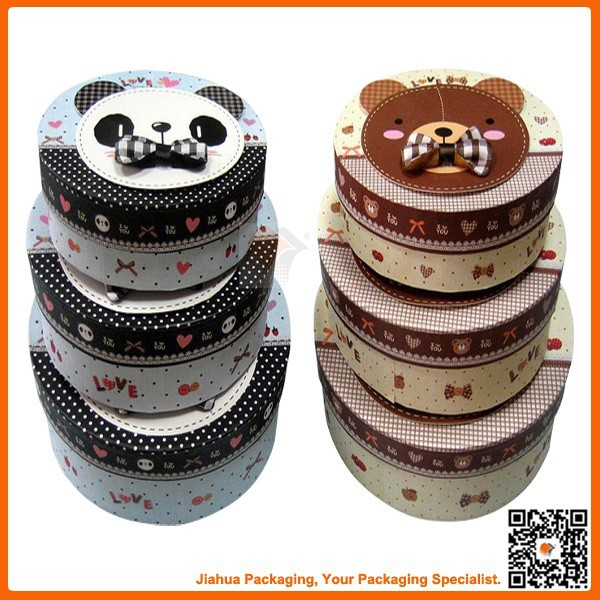cartoon round cylinder gift box for cake