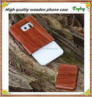 metal for samsung s6 back cover, manufacture in china for iphone and samsung rose wood case