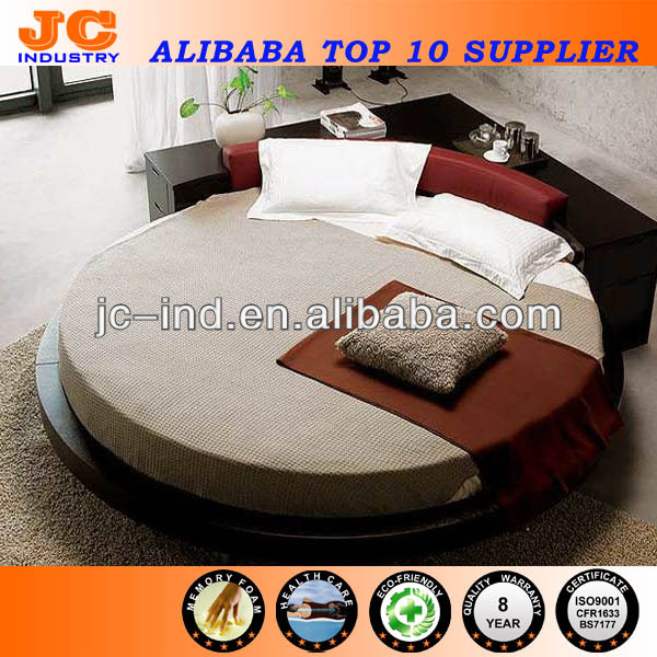 Professional Memory Foam King Size Round Mattress Manufacture from China