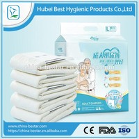 Disposable Adult Diaper with leak guard, wetness indicator, front tape and PP tape for old people