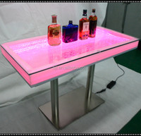 long rectangle wonderful led light party bar tables wholesale glowing tables