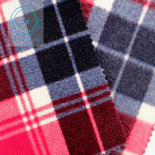 Super Soft Polar Micro Fleece Buffalo Plaid Printed Knit Fabrics for Garment