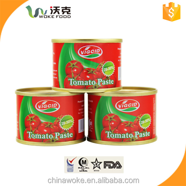 New crop Brix 28-30 Factory supply canned tomato paste/ketchup