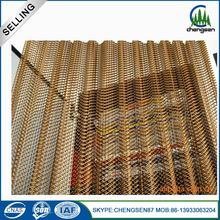 Aluminium expanded metal decorative wire mesh curtains