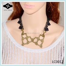 new arrival jewelry discount designer wedding necklaces embroidery lace necklaces