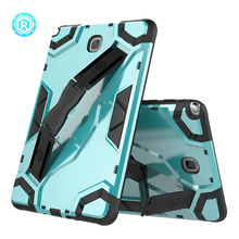 Newest design hand strap kickstand case for Samsung galaxy TAB A hybrid tablet cover for T350