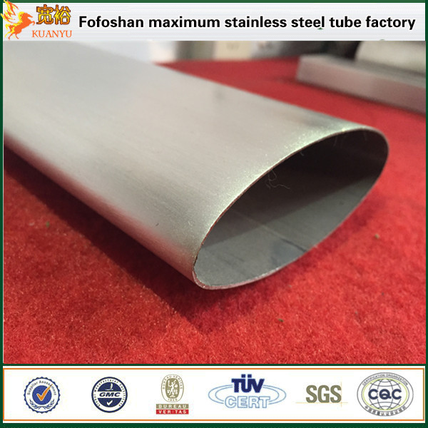 Supply 316 316L Stainless Steel Oval Tubes Stainless Steel Irregular Pipe