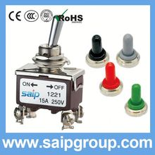 15A 250V on off on 250vac 15a toggle switch with rainproof cap electronic rocker switch 2P 3P 4P 6P 9P 12P