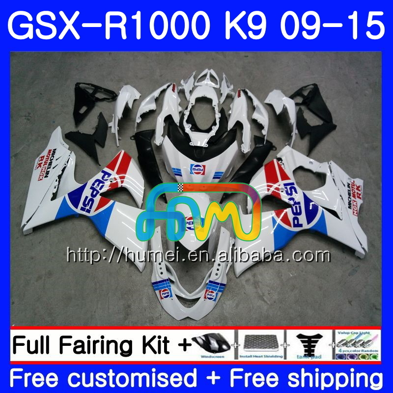 Fairing For SUZUKI GSX-<strong>R1000</strong> gloss white GSXR 1000 09 10 11 12 13 15 74HM1 GSX <strong>R1000</strong> K9 GSXR1000 2009 2010 2011 2012 2014 2015