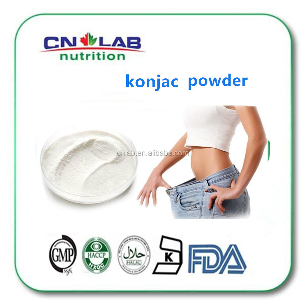 High dietary fiber konjac glucomannan powder/konjac jelly powder with factory price