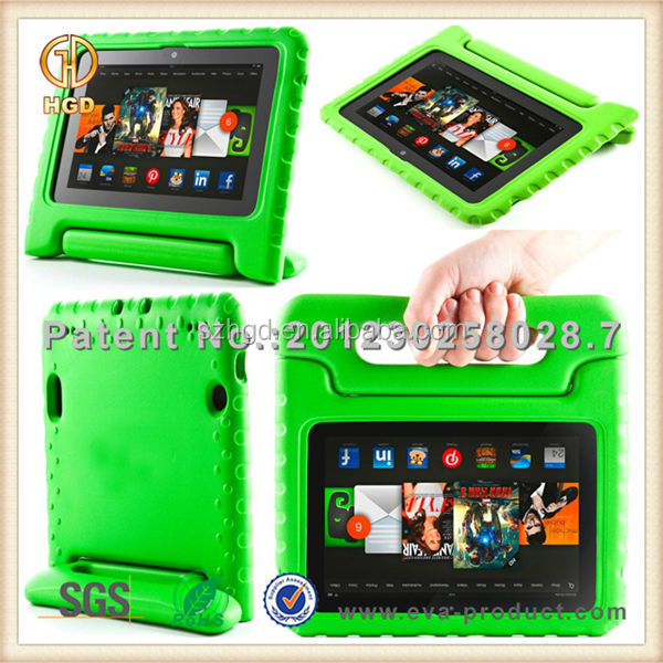 EVA foam kid proof rugged tablet case for 7 inch tablet with stand