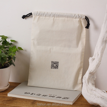 Unbleached Cotton Fabric Book Dust Bag with Custom LOGO