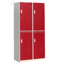 Current hot-selling KD structure metal 4 door locker, steel wardrobe locker
