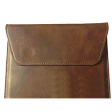 brown tablet case for ipad mini with straight insert envelope design