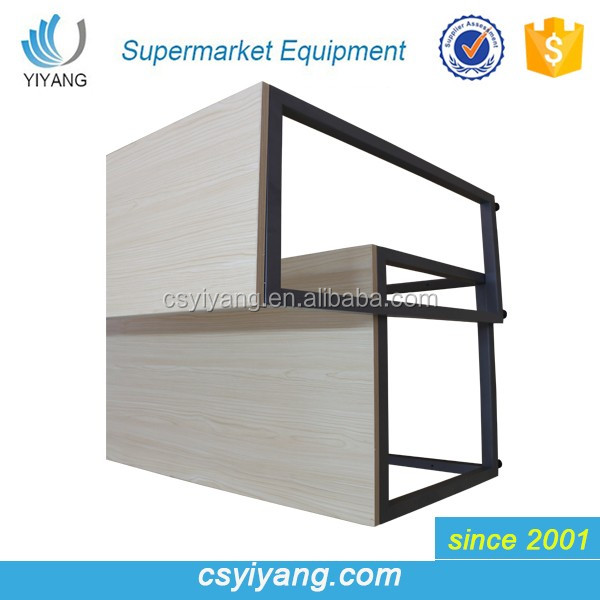 2016 hot sales wood panelling bookcase