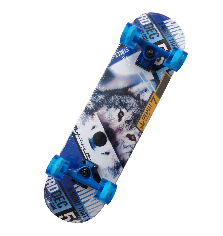 Wholesale cheap price chinese maple skateboard LED wheels skate board