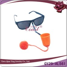 promotional gifts funny plastic clown nose Aerobics basketball sport glasses