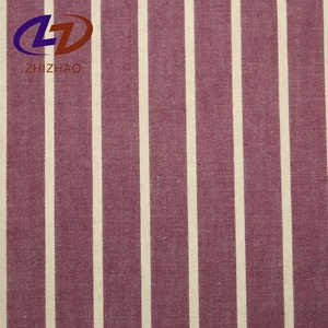 100%C STRIPE cotton fabric roll with woven for home textile