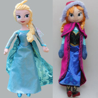40cm Wholesale Frozen doll Princess Elsa and Anna dolls Stuffed Plush Soft Dolls for Kids Christmas Gift Toys